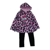 Desigual Baby Girls Pink Cheetah Print Minnie Mouse Hooded Top 2 Pc Pant Set 12M