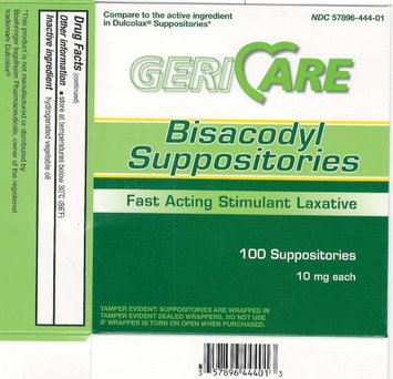 Mckesson Brand Gericare Bisacodyl Laxative Suppository