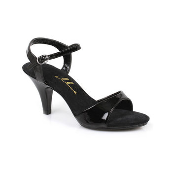 3 Inch Heel Sexy Sandal Style Low Heel Shoe With Ankle Strap Black or Silver