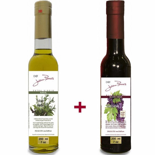 100% naturally infused Tuscan Herb Olive Oil (200ml) and Traditional Barrel Aged 18 Years Italian Balsamic Vinegar 100% All Natural (200ml)