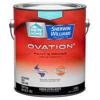 HGTV HOME by Sherwin-Williams Ovation Interior Flat Tintable White Latex-Base Paint and Primer in One (Actual Net Contents: 124-fl oz) OV0020001-16