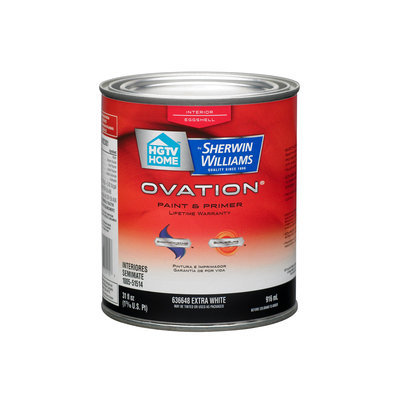 HGTV HOME by Sherwin-Williams Ovation Interior Eggshell Tintable White Latex-Base Paint and Primer in One (Actual Net Contents: 31-fl oz) OV0023001-14