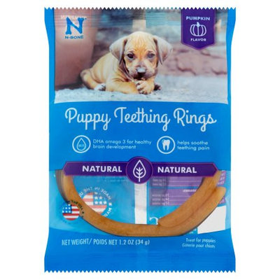 N-bone Nbone 113000 Puppy Teething Rings In Pumpkin Single