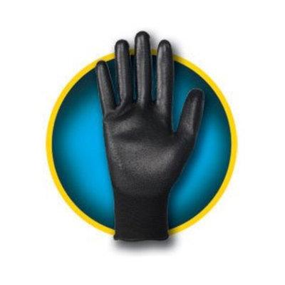 Jackson Safety G40 Black 8 Full Fingered Work & General Purpose Gloves - Polyurethane Full Coverage Coating - Seamless Lining - 98221 [PRICE is per BAG]