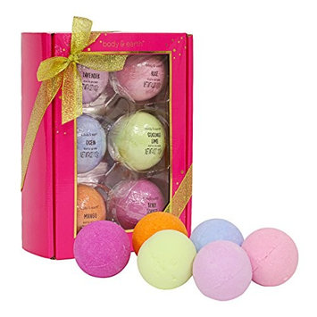 Bath Bombs Gift Set, Body & Earth 6 Piece Large Bath Bombs Infused with Shea Butter and Sea Salt, Best Gift for Women