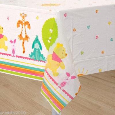 Hallmark Disney Pooh Little Hunny Bunny Baby Shower Plastic Tablecover