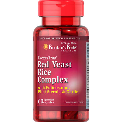 Puritan's Pride Red Yeast Rice Complex-60 Capsules