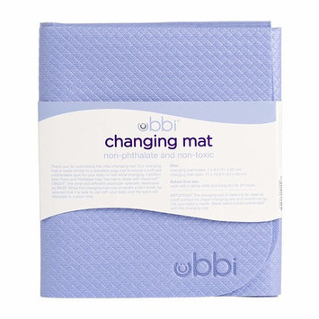 Ubbi Changing Mat, Soft and Comfortable, Easy to Clean and Carry on the go, Yoga-Mat Feel, Periwinkle [Periwinkle Changing Mat]