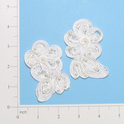 Expo International, Inc Expo Vintage Soutache Wild Flower Pearl Applique Pack of 2
