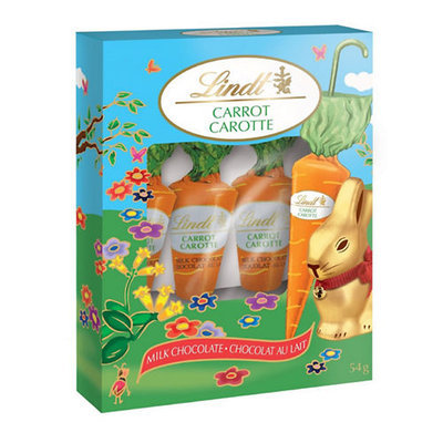Lindt Pack of Four Milk Chocolate Carrots-NO COLOUR-One Size