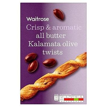 Black Olive & Basil Twists Waitrose 125g (Pack of 6)