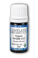 Essential Oil Ginger CO2 Organic Simplers Botanicals 5 ml Liquid