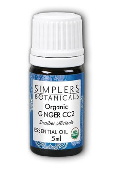 Essential Oil Ginger CO2 Organic Simplers Botanicals 5 ml Liquid