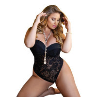 Plus Size Elegant Curvy Luxurious Lace Teddy Lingerie