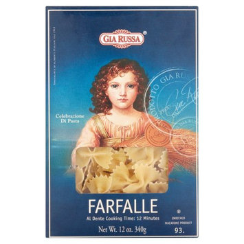 Gia Brands Inc Gia Russa Farfalle Enriched Macaroni, 12 oz