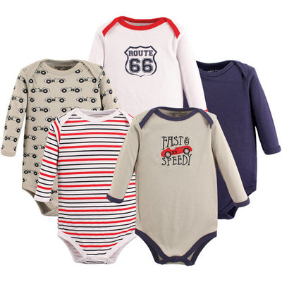 Luvable Friends Baby Boy Long-Sleeve Bodysuits, 5-Pack