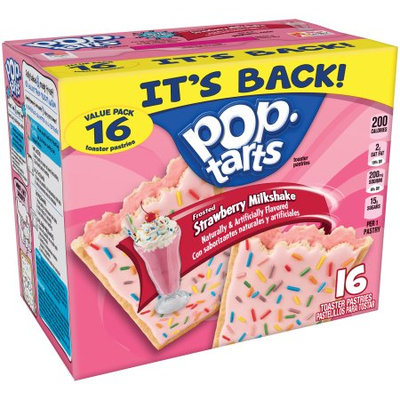 Kellogg's Pop-Tarts Frosted Strawberry Milkshake Toaster Pastries