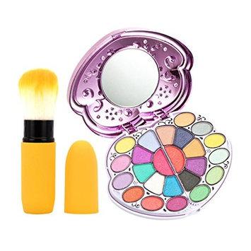 Homyl Shimmer Matte Eyeshadow Concealer Blush Lip Gloss Palette Powder Brush Set