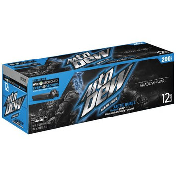 Pepsi Mountain Dew Game Fuel, Arctic Burst, 12 Fl Oz, 12 Count