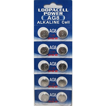 LOOPACELL AG8 LR1120 391 391A SR1120SW LR55 SR1120 Alkaline Button Cell Battery X 500