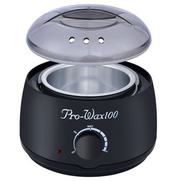 100G Kit Electric Wax Warmer Heater with Hard Wax Beans(100G) and Wax Applicator Sticks(12pcs) for Hair Removal