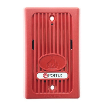 Potter Electric, Inc Potter MHT-1224R 4890001 Remote Audible Signaling Appliance, 12/24V, Red