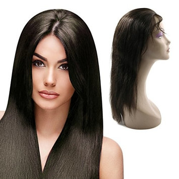 Uxcell Wigs Front Baby Hair Nature Hairline Free Part Hand Tied Swiss Lace, 24 Inch