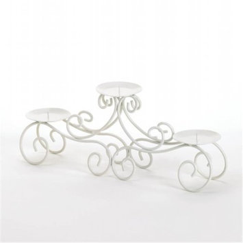 Zingz & Thingz 57071267 White Tendril Candle Stand