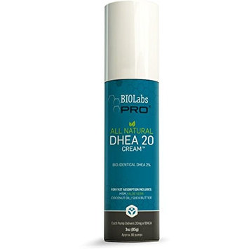 All Natural Bioidentical Dhea Cream 20mg - Two Month Supply - 2% DHEA with MSM, Coconut Oil, Aloe Vera & Shea Butter - Highly Effective For Both Men & Women