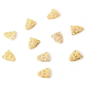 10pcs Fashion 3D Alloy Nail Art Stickers Glitter Gold Tiger Mask Beads Nail Art Manicure DIY Decoration for Cellphone Case