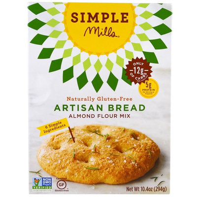 Simple Mills, Naturally Gluten-Free, Almond Flour Mix, Artisan Bread, 10.4 oz(pack of 12)