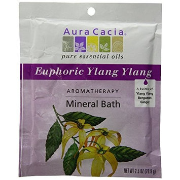 Aura Cacia Mineral Bath Euphoria - 2.5 oz (Pack of 6)
