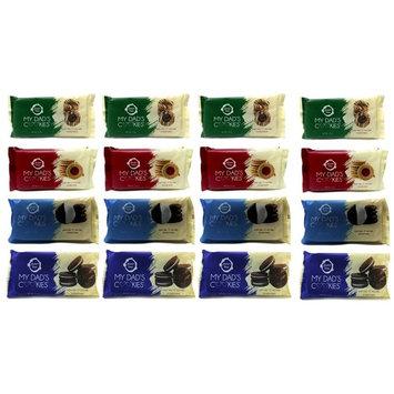My Dad's Cookies 4 Flavor 12 Pack Sampler One 1.5oz pack of Each Flavor (Pack of 12) (12Pack -Variety)