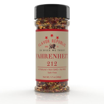 Flavor Republic Fahrenheit 212 (8 oz bottle size) - salt free, all natural, non GMO, gluten free, paleo diet, HOT seasoning blend that adds heat to any dish and is perfect for weight loss and a low sodium diet!
