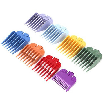 Frcolor 1 Box 8 Sizes Guide Comb Set, Different Color Clipper Spare Parts Haircut Accessories Guide Comb Attachment for Barber