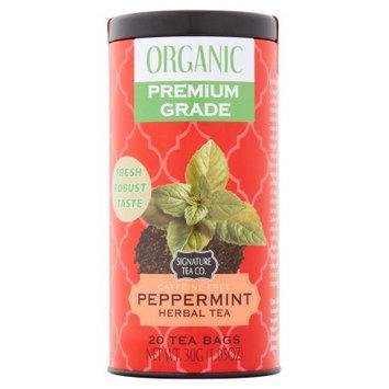Mbm Industries Signature Tea Co. Organic Peppermint Herbal Tea, 20 count, 1.05 oz