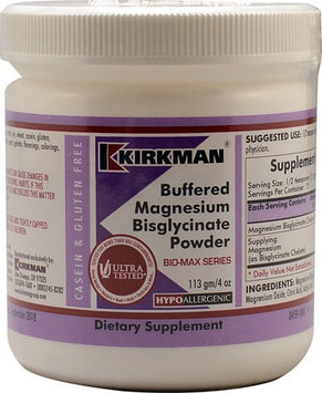 Kirkman Buffered Magnesium Glycinate Powder 4 oz