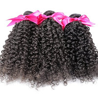 Original Queen 100% Brazilian Unprocessed Virgin Kinky Curly Human Hair Weave 3 Bundles With Closure Deep Curly Hair Extensions Mixed Length 16 18 20inches With 16inches Free Part Closure