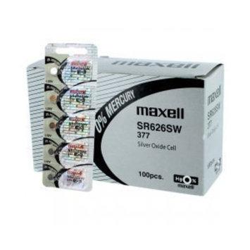 100 pcs Maxell SR626SW SG4 SR66 377 Silver Oxide Watch Battery