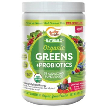 Organic Greens+Probiotics (10.5 Ounces Powder) by Healthy Delights Naturals at the Vitamin Shoppe