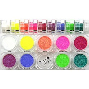 Mahya Cosmetics Eye Glitter 9 Stack - Neon