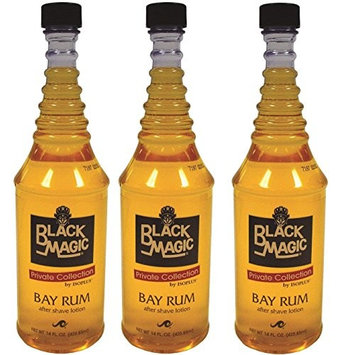 [VALUE PACK OF 3] ISOPLUS BLACK MAGIC AFTERSHAVE LOTION (BAY RUM) 14OZ: Beauty
