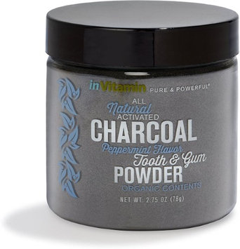 Activated Charcoal Tooth & Gum Powder (2.75 oz, Peppermint) by invitamin