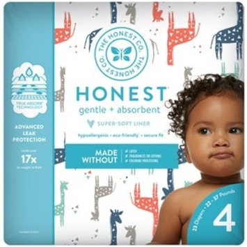 Honest Company Diapers, Multi Colored Giraffes Size 4
