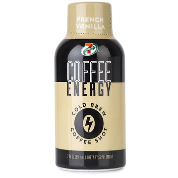 7-Select Cold Brew Coffee Energy Shots, French Vanilla, 2 oz, 12 pack [French Vanilla]