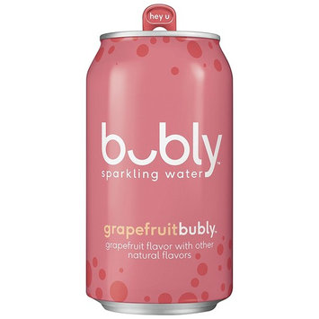 bubly Sparkling Water, Grapefruit, 12 Ounce Cans (18 Count)