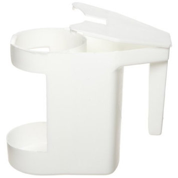 Zephyr 18801 White Plastic Bowl Mop Caddy (Pack of 12)