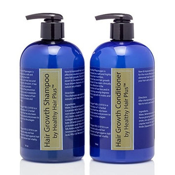 Hair Growth Shampoo (16 oz) & Conditioner (16 oz) Promotes New Healthy Hair Growth With Trichogen VEG LS 9733 & DermaPep PepAnagen