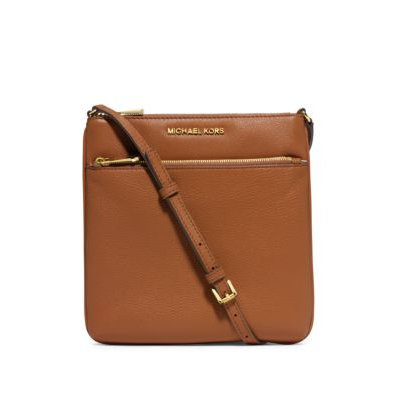 Michael Kors Riley Small Pebbled Leather Crossbody in Brown