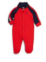 Ralph Lauren Childrenswear Infant Boys' Rugby Shawl Collar Footie - Sizes Newborn-9 Months